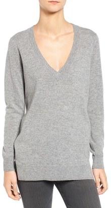 Women's Ag Luna V-Neck Merino & Cashmere Tunic Sweater $278 thestylecure.com