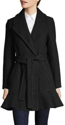 Kate Spade Notch Collar Belted Coat