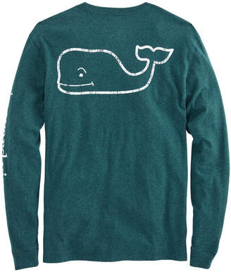 Vineyard Vines Long-Sleeve Heathered Vintage Whale Pocket T-Shirt