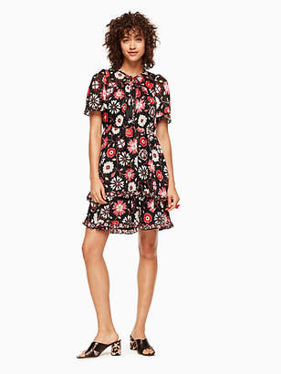 Casa flora flutter sleeve dress $428 thestylecure.com