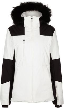 Fusalp White Cascade Hooded Ski Jacket