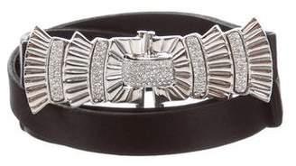Judith Leiber Jewel-Embellished Buckle Belt
