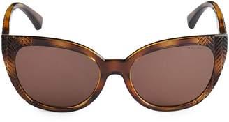 Ralph Lauren 56MM Tortoise Butterfly Frame Sunglasses