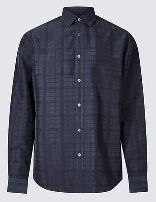 Marks and Spencer Modal Rich Textured Shirt with Pocket