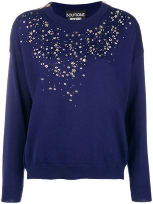 Moschino stars and studs trimmed sweater