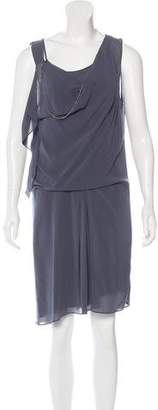 Brunello Cucinelli Monili-Accented Draped Dress