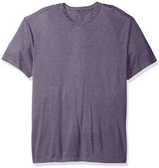 John Varvatos Men's Striped Short Sleeve Linen T-Shirt