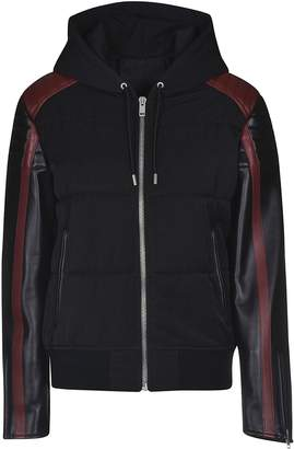 Givenchy Contrasting Sleeves Hooded Jacket