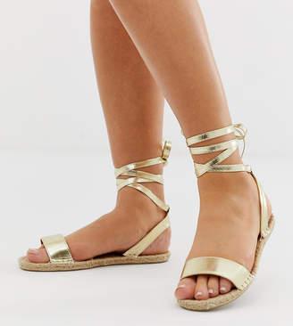 Asos Design DESIGN Wide Fit Jenica Espadrille Sandals