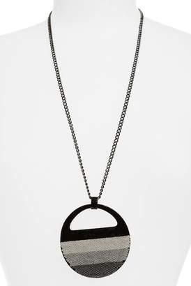 Natasha Accessories Enamel & Chain Pendant Necklace