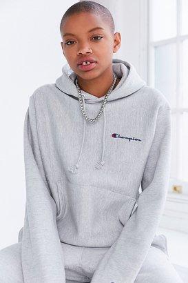 Champion + UO Mini Logo Hoodie Sweatshirt $65 thestylecure.com