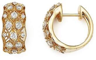 Bloomingdale's Diamond Huggie Hoop Earrings in 14K Yellow Gold, .80 ct. t.w. - 100% Exclusive