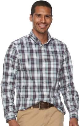 Sonoma Goods For Life Men's SONOMA Goods for Life Flexwear Slim-Fit Plaid Poplin Button-Down Shirt