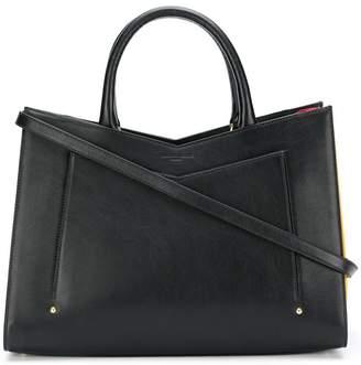 Sara Battaglia pleated side tote bag