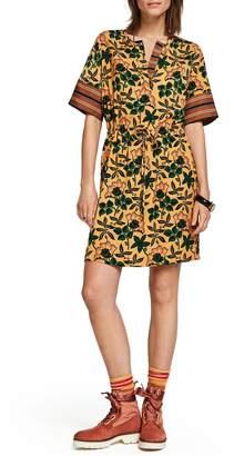 Scotch & Soda Mix Print Tie Waist Dress