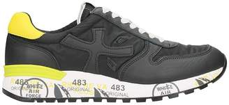 Premiata Micky Black Nylon And Leather Sneakers