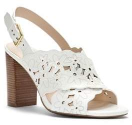 Cole Haan Indra Floral Leather Slingback Sandals