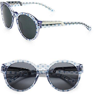 Stella McCartney Printed Round Plastic Sunglasses/Blue