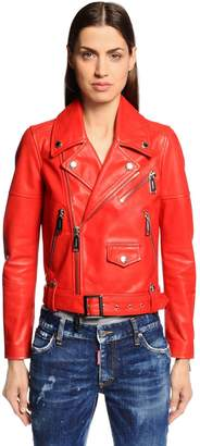 DSQUARED2 Nappa Leather Biker Jacket