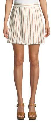 Tularosa Trisha Striped Metallic Short Skirt