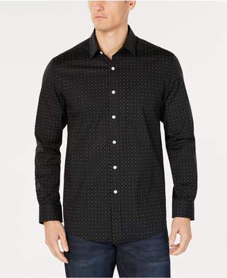 Club Room Men's Dot-Print Pocket Stretch Shirt, Created for Macy's