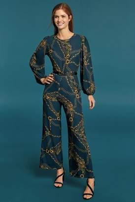0e35092fa5 at Next · Next Womens Navy Chain Print Jumpsuit
