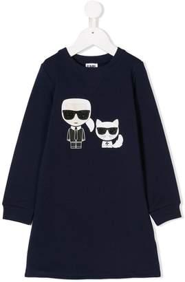 Karl Lagerfeld and Choupette sweatshirt dress
