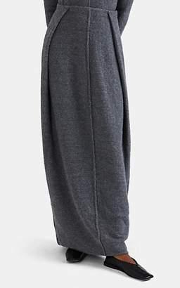 Jil Sander Women's Bouclé Folded-Waist Skirt - Gray