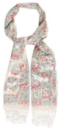 Louis Vuitton LVOE Embellished Floral Print Stole