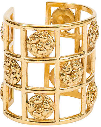 One Kings Lane Vintage Chanel 70s Camellia Cage Cuff Bracelet