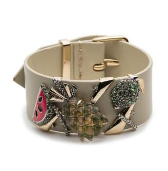 Alexis Bittar Fruit Studded Leather Bracelet