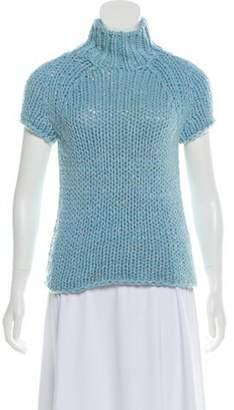 Malo Mock Neck Cashmere Sweater Blue Mock Neck Cashmere Sweater