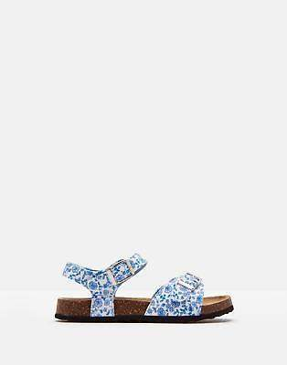 Joules Girls Tippy Toes Sandals in Folkstone Ditsy Size Childrens 9