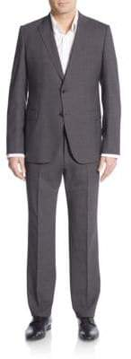 Armani Collezioni Regular-Fit Solid Stretch Wool Suit
