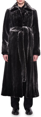 THE ROW Neyton Belted Mink Fur Coat $24,990 thestylecure.com