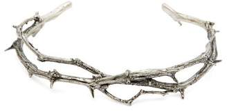 Pearls Before Swine Thorn Oxidised Silver Sterling Bangle - Mens - Silver