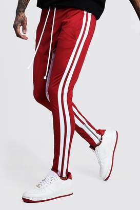 boohoo Skinny Fit MAN Signature Tricot Joggers