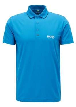 BOSS Hugo Slim-fit polo shirt in moisture-wicking stretch fabric M Blue