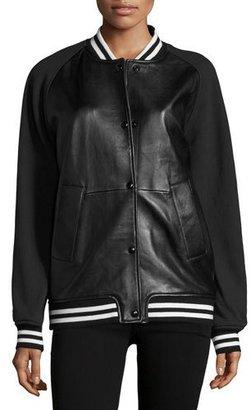 Rebecca Minkoff Tessa Leather Varsity Jacket $498 thestylecure.com
