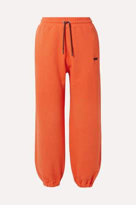Victoria Beckham Reebok X Cotton-terry Track Pants - Orange