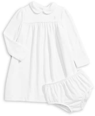 Ralph Lauren Childrenswear Baby Girl's Solid Velour Dress