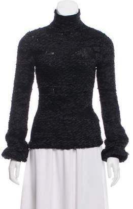 Alexander McQueen Silk-Blend Turtleneck Sweater