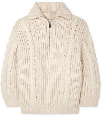 IRO Pure Cable-knit Alpaca-blend Sweater - Ecru