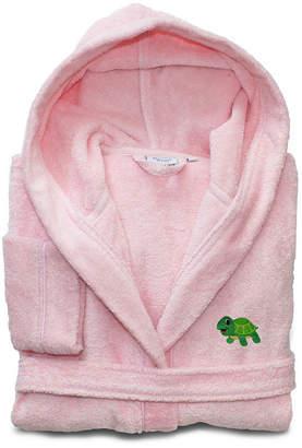 Asstd National Brand Linum Kids 100% Turkish Cotton Hooded Terry Bathrobe -Turtle