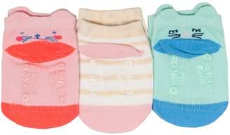 Osh Kosh Oshkosh Bgosh Baby / Toddler Girl 3-pack Critter Ankle Socks