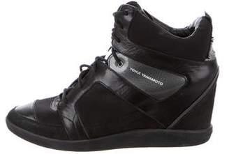 Y-3 High-Top Wedge Sneakers