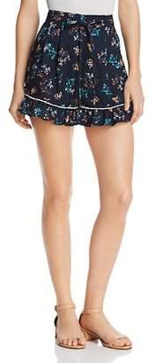 The Fifth Label Skyward Ruffled Hem Floral-Print Mini Shorts