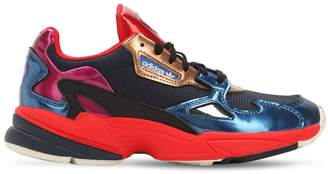 adidas Falcon Mesh & Metallic Leather Sneakers