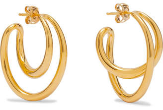 Charlotte Chesnais Initial Gold Vermeil Hoop Earrings
