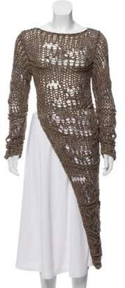Isabel Benenato Crochet Long Sleeve top w/ Tags